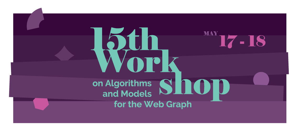 15th Workshop on Algorithms and Models for the Web Graph